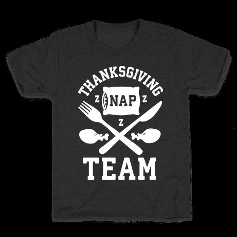 Thanksgiving Nap Team Kids T-Shirt