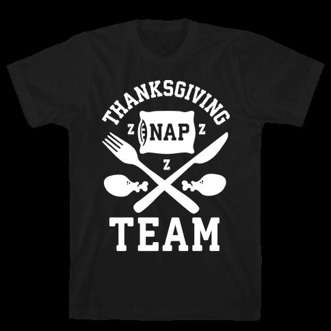 Thanksgiving Nap Team Mens T-Shirt