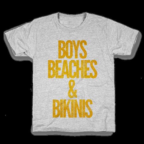 Boys Beaches & Bikinis Kids T-Shirt