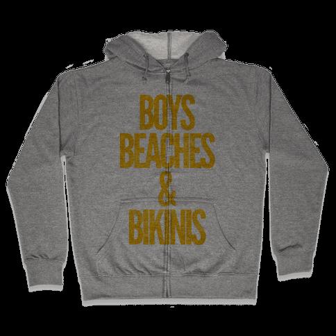 Boys Beaches & Bikinis Zip Hoodie