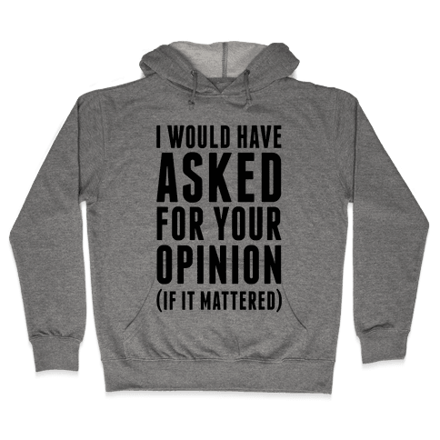 I Would Have Asked For Your Opinion (If It Mattered) Hooded Sweatshirt