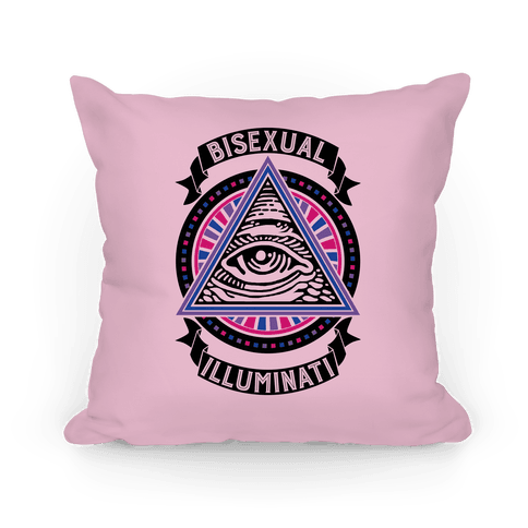 Bisexual Illuminati Pillow