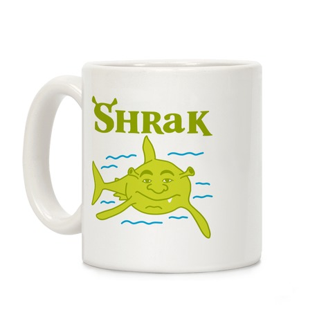 Shrak Shrek The Shark Coffee Mug