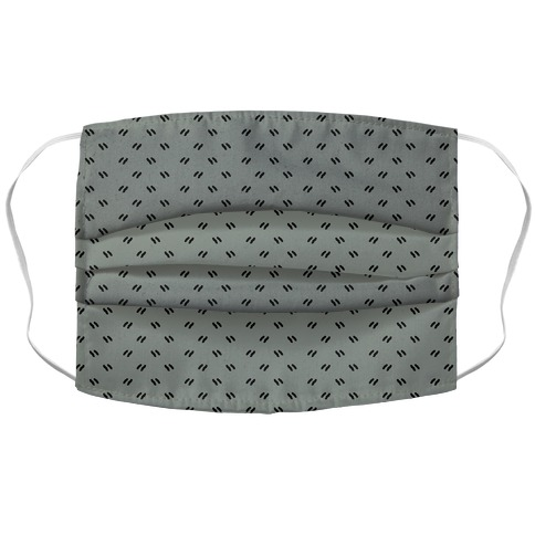 Dainty Dashes Pattern Grey Accordion Face Mask