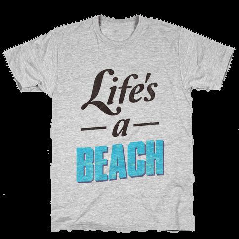 Life's a Beach (vintage tank) Mens T-Shirt