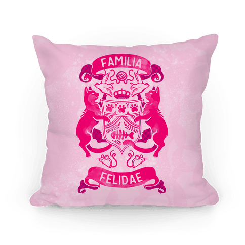 Cat Family Crest: Familia Felidae Pillow