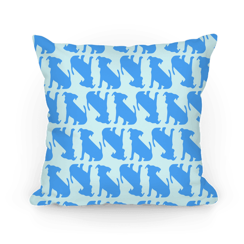 Blue Puppy Pattern Pillow
