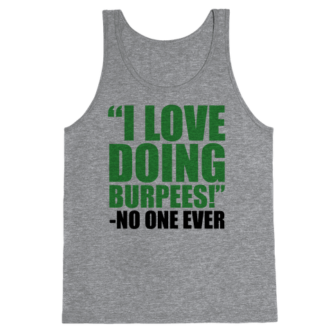 I Love Doing Burpees Tank Top