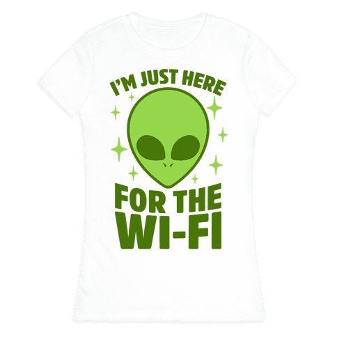 I'm Just Here For The Wi-fi Womens T-Shirt