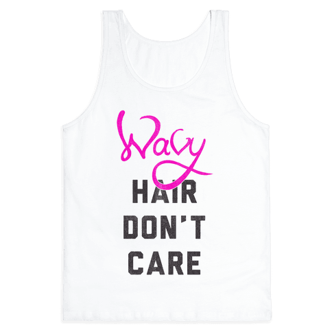 Wavy Hair Don't Care Tank Top