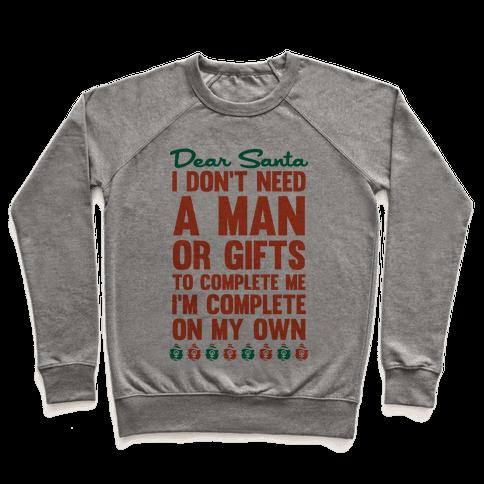 Dear Santa (Feminist Christmas) Pullover