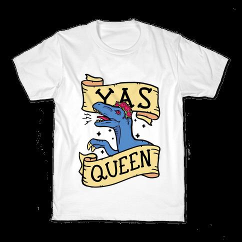Yas Queen Raptor Kids T-Shirt
