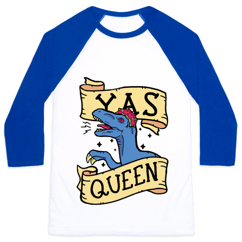 Yas Queen Raptor Baseball Tee
