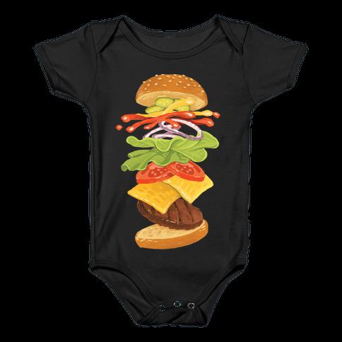 Anatomy Of A Burger Baby Onesy