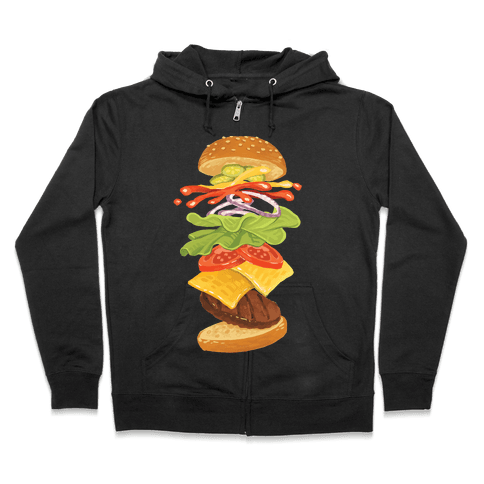 Anatomy Of A Burger Zip Hoodie