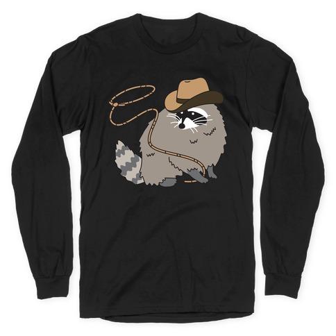 Cowboy Raccoon Lasso Long Sleeve T-Shirt