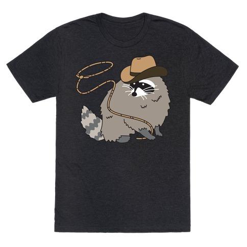 Cowboy Raccoon Lasso T-Shirt