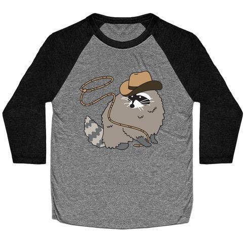 Cowboy Raccoon Lasso Baseball Tee