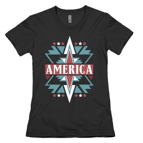 American Pattern Womens T-Shirt