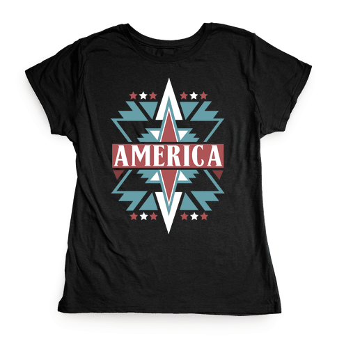 American Pattern Womens T-Shirt