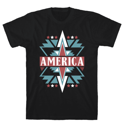 American Pattern Mens T-Shirt
