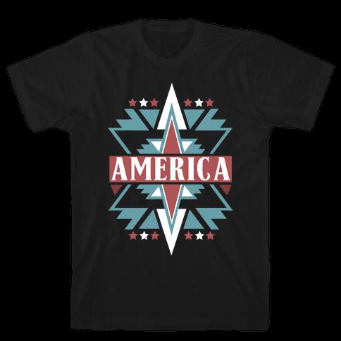 American Pattern Mens T-Shirt