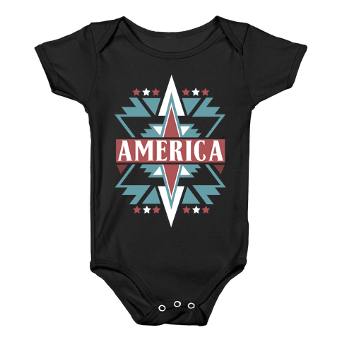 American Pattern Baby Onesy