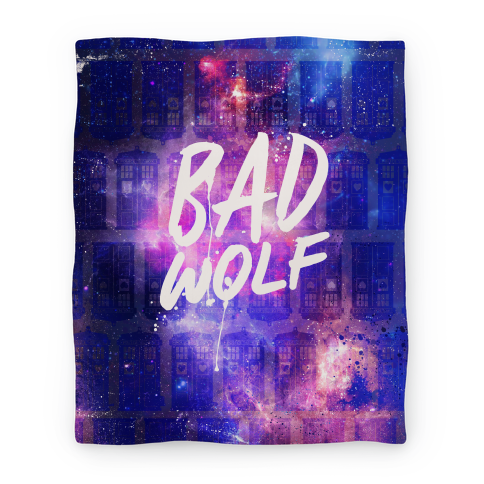 Doctor Who Bad Wolf Blanket