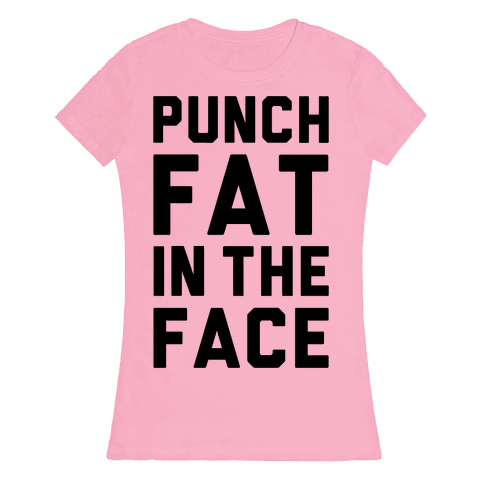 Punch Fat In The Face Womens T-Shirt