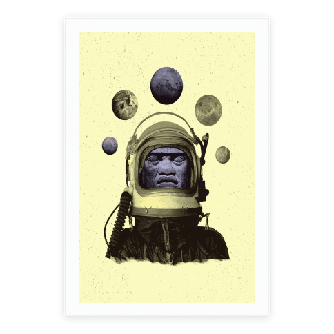 Space Olmec Poster
