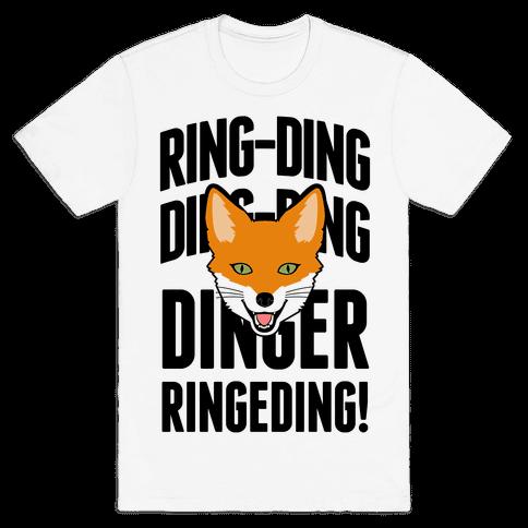 Ding Ding Fox Call Mens T-Shirt