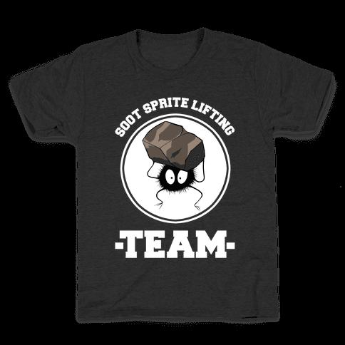 Soot Sprite Lifting Team Kids T-Shirt