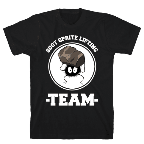 Soot Sprite Lifting Team Mens T-Shirt