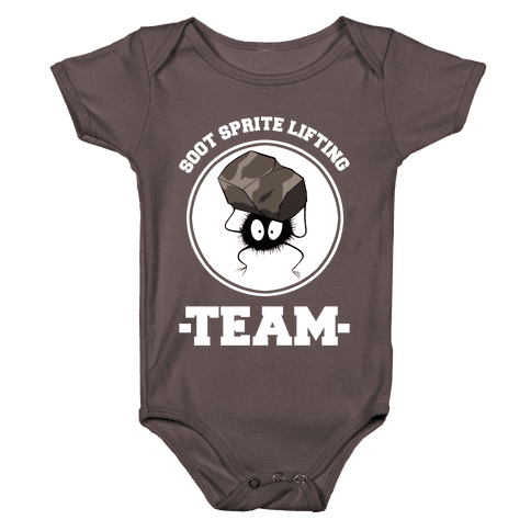 Soot Sprite Lifting Team Baby One-Piece