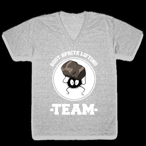 Soot Sprite Lifting Team V-Neck Tee Shirt