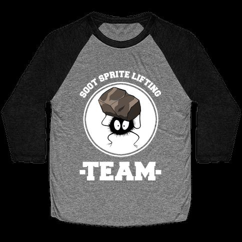 Soot Sprite Lifting Team Baseball Tee