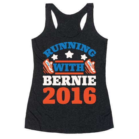 Running With Bernie 2016 Racerback Tank Top