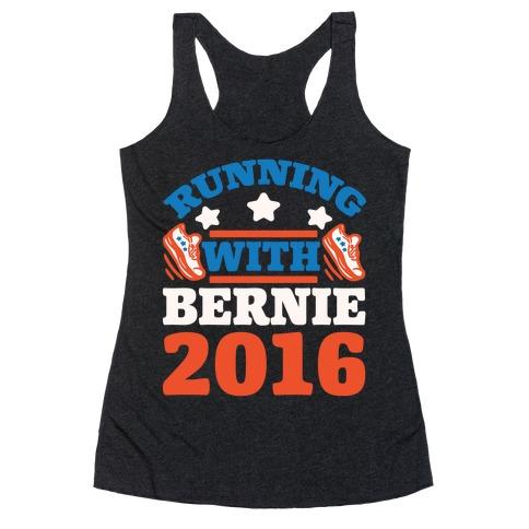 Running With Bernie 2016 Racerback Tank Top