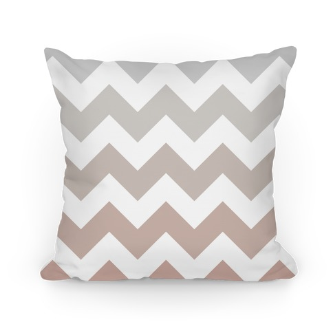 Chevron Pillow (Grayscale) Pillow