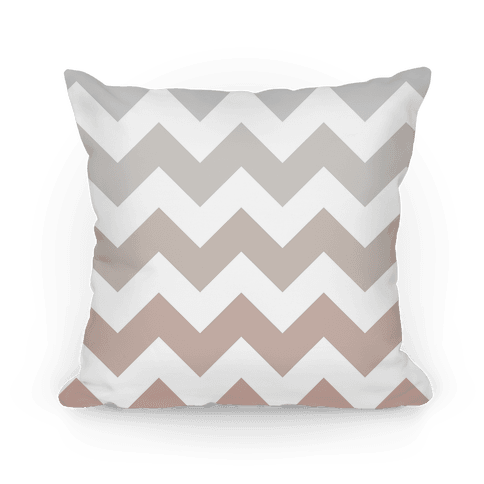 Chevron Pillow (Grayscale)