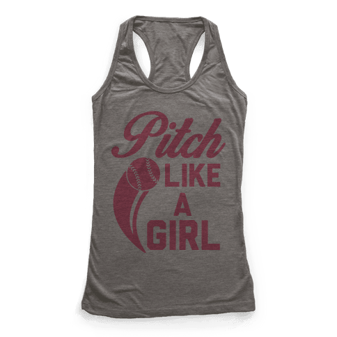 Pitch Like a Girl Racerback Tank Top
