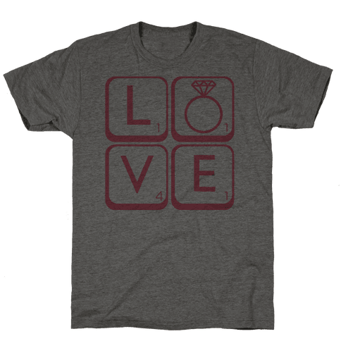 Love Scrabble Mens T-Shirt