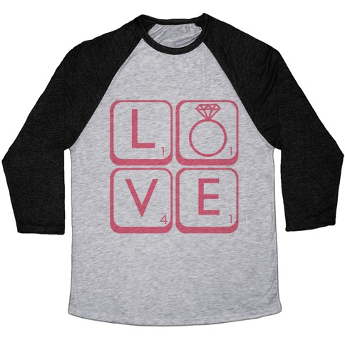 Love Scrabble Baseball Tee