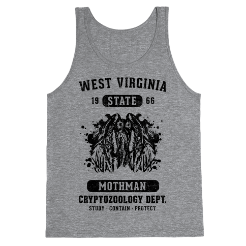 West Virginia Mothman Cryptozoology Tank Top