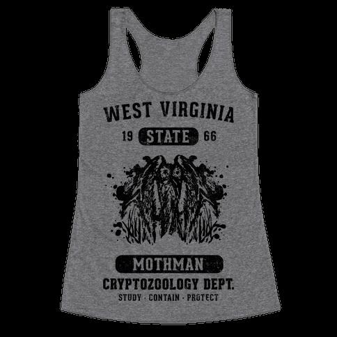 West Virginia Mothman Cryptozoology Racerback Tank Top