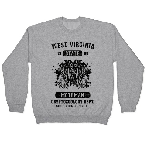 West Virginia Mothman Cryptozoology Pullover