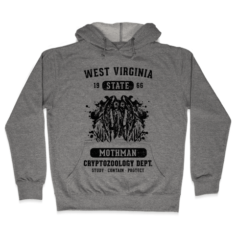 West Virginia Mothman Cryptozoology Hooded Sweatshirt