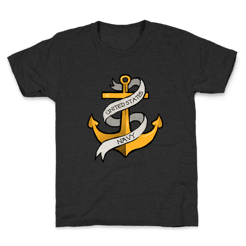 Navy Anchor Kids T-Shirt