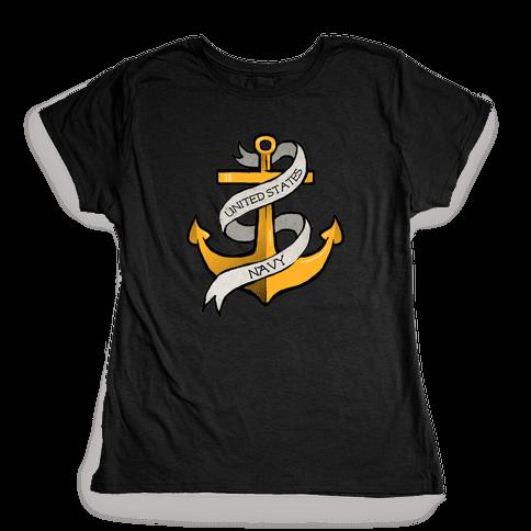 Navy Anchor Womens T-Shirt