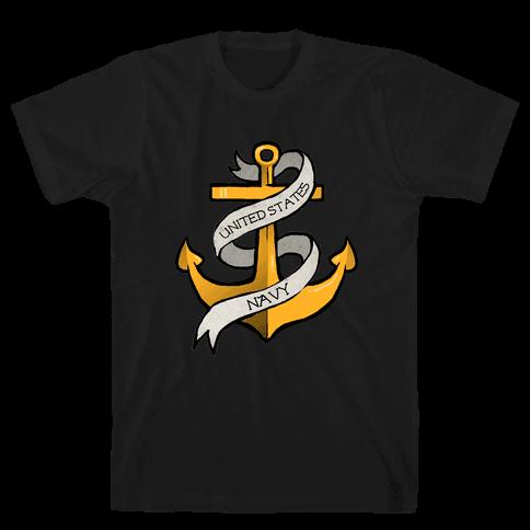 Navy Anchor Mens T-Shirt